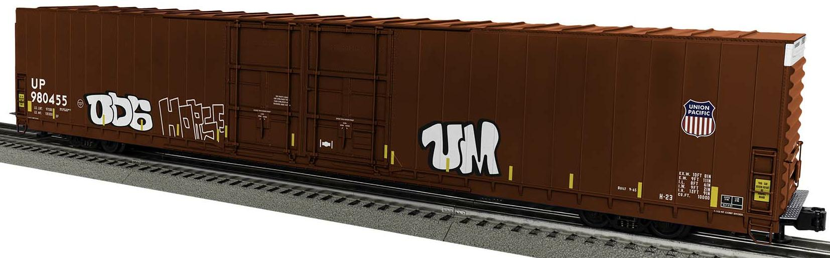 Union Pacific 86' 4 Door High Cube Boxcar w/graffiti #980455 image