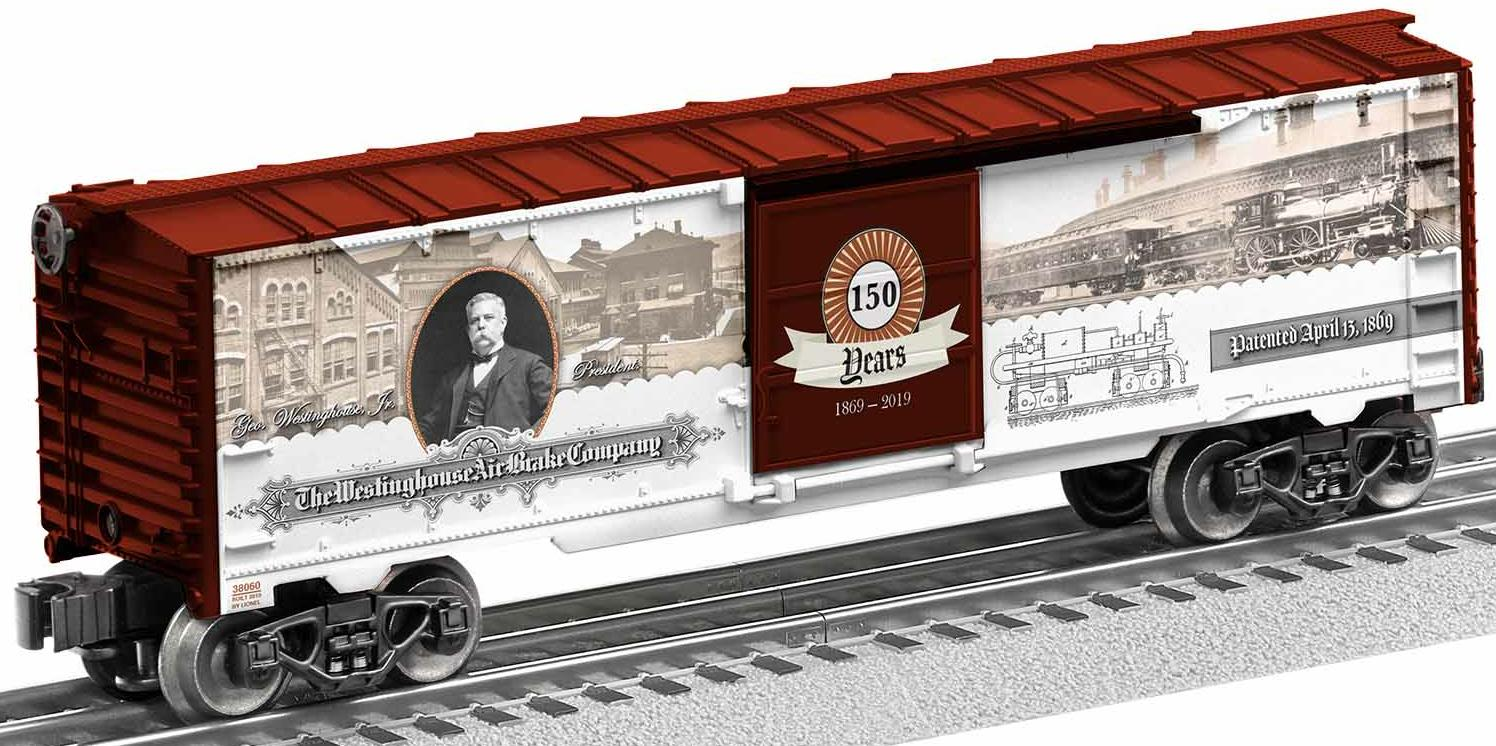 Westinghouse Air Brake 150th Anniversary Boxcar image