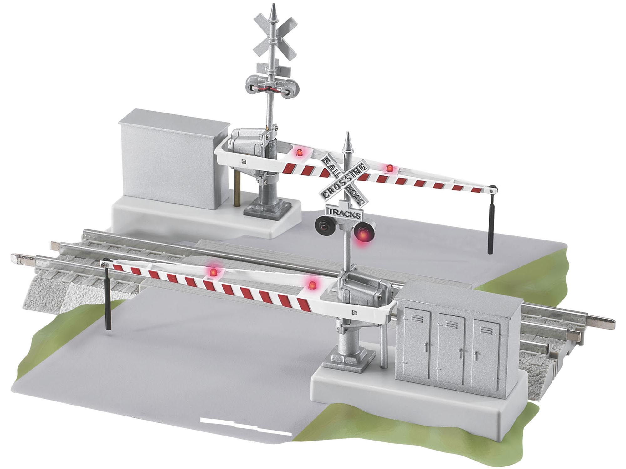 "Grade Crossing with Gates and Flashers 10"" image"
