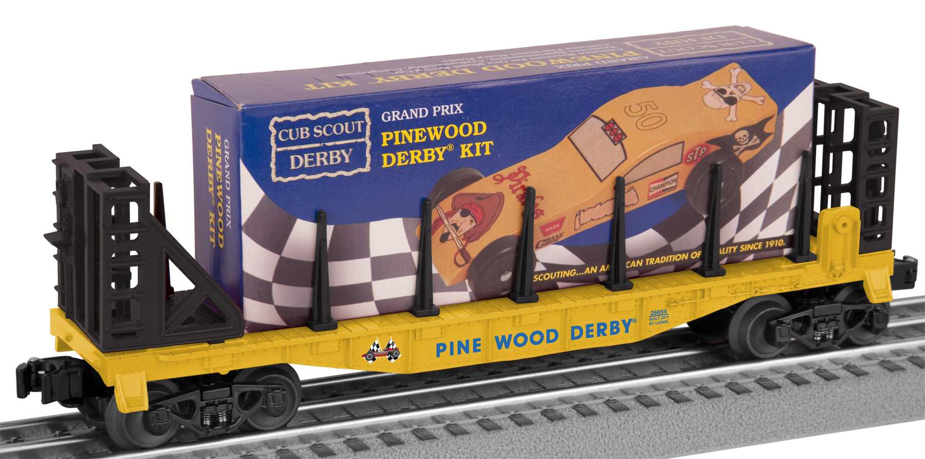 Boy Scouts of America® Flatcar w/Pinewood Derby Kit image