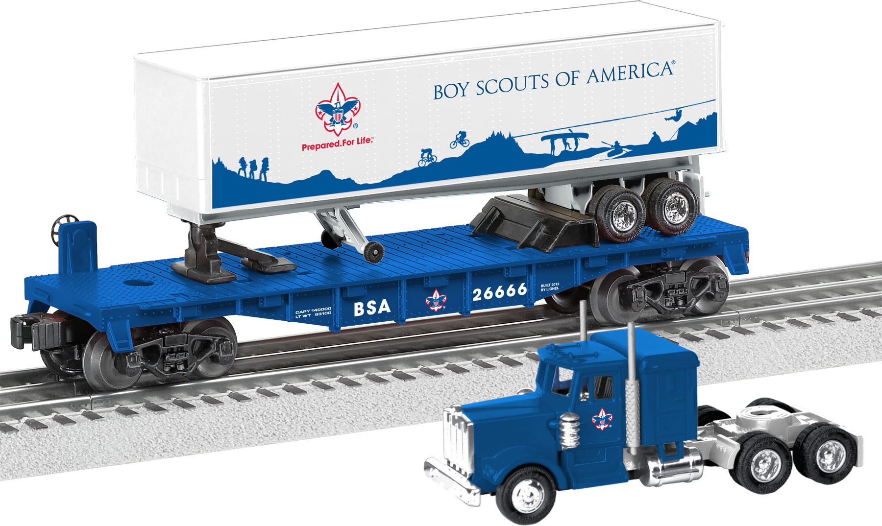 Boy Scouts of America® Flatcar w/Tractor Trailer image