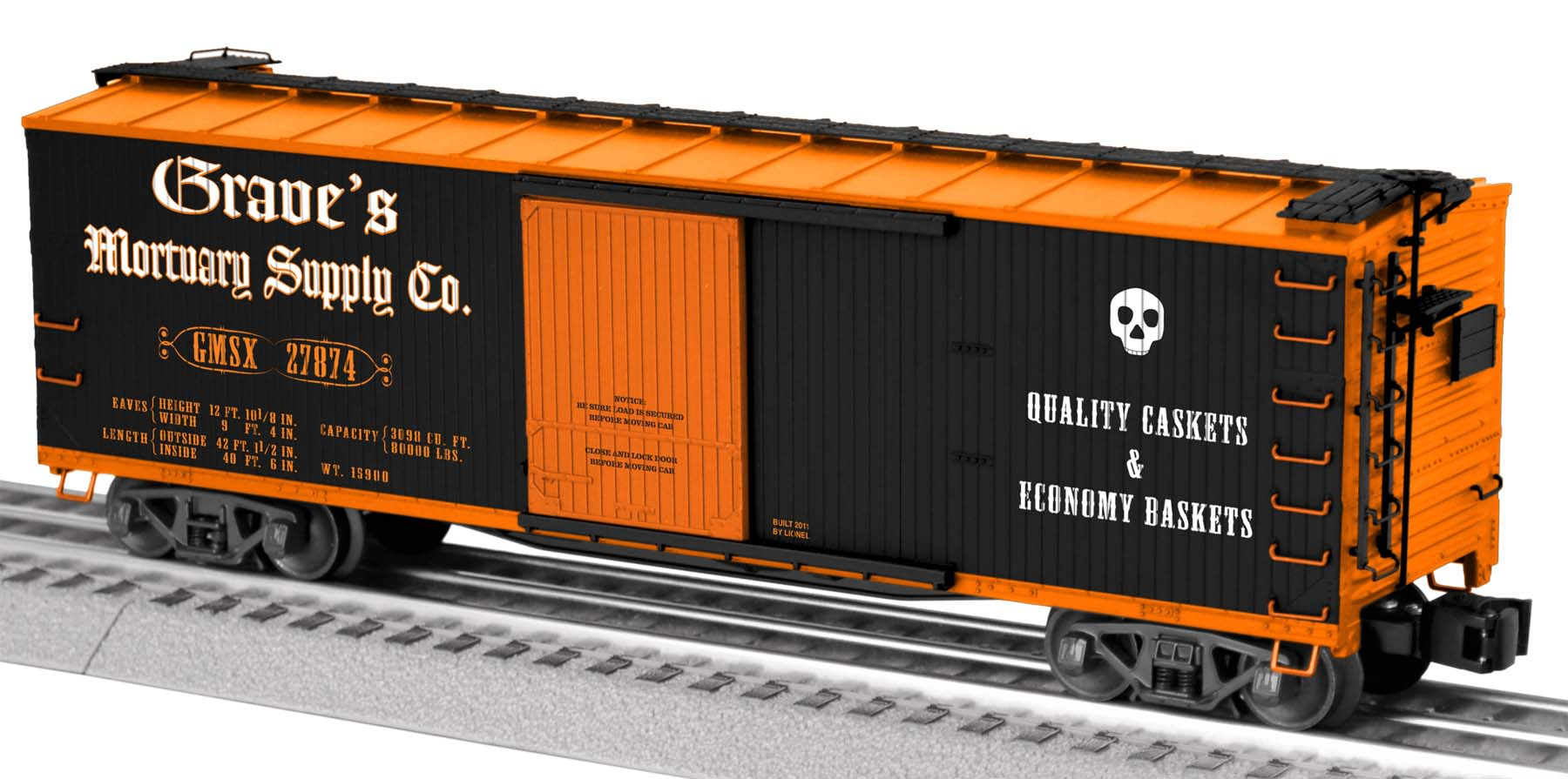 Grave's Mortuary Double-Sheathed Boxcar image