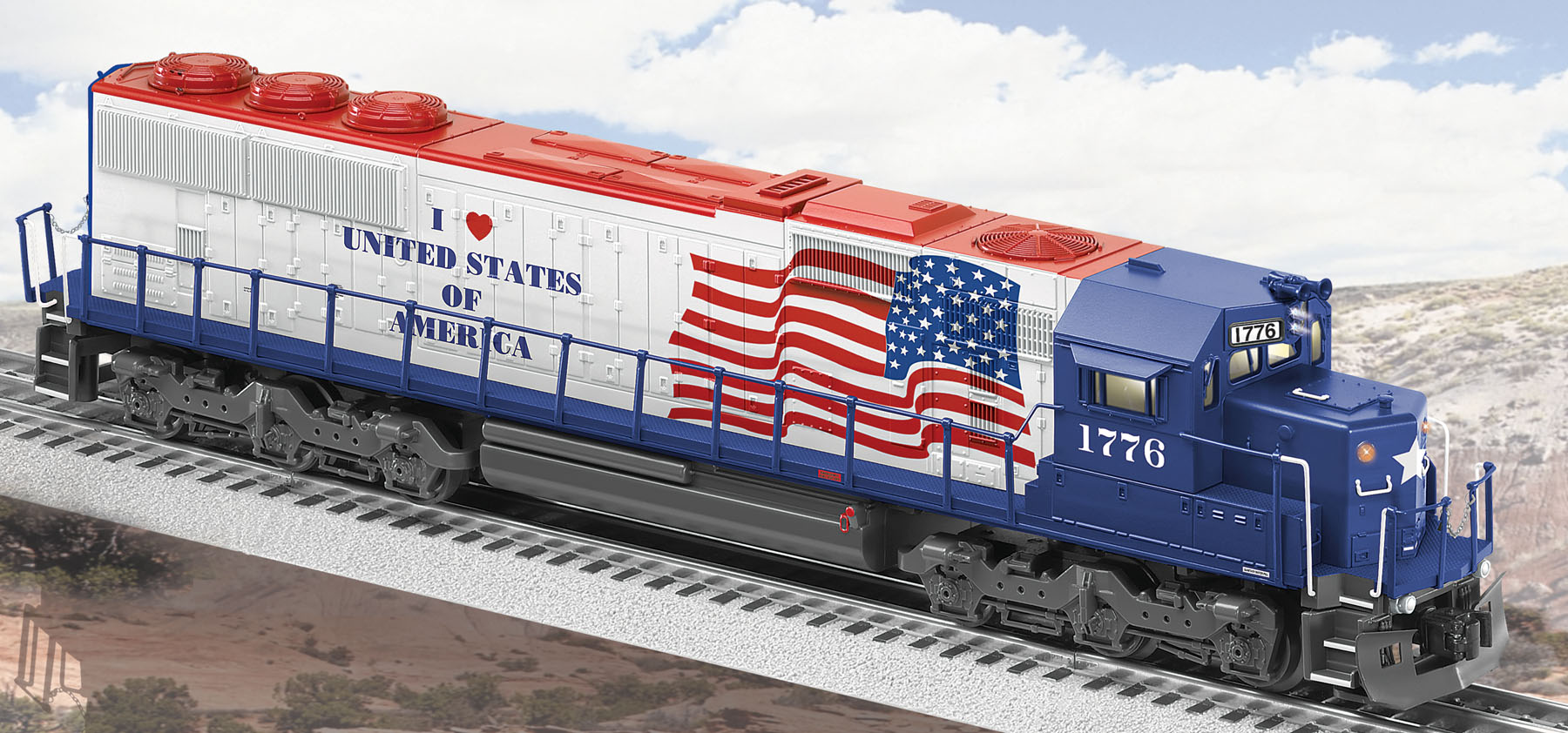 I Love U.S.A. Conventional SD60 Locomotive image