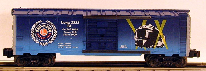 Lionel Century Club Box Car – F-3 2333 image