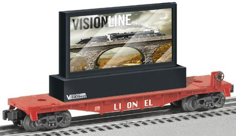 Lionel O27 Flatcar w/Operating LCD Billboard image