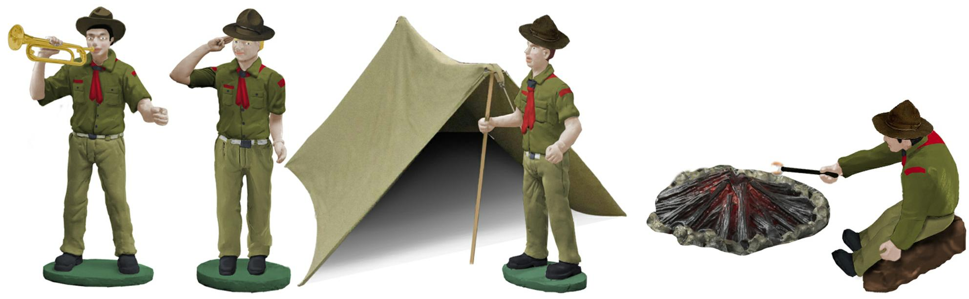 Vintage Boy Scouts of America Figure Pack image