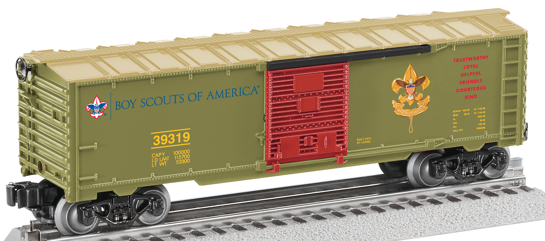 "Boy Scouts® ""Scout Law"" Add-on Boxcar image"