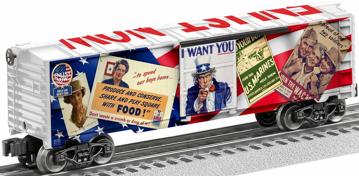 "Uncle Sam ""Enlist Now"" Boxcar image"