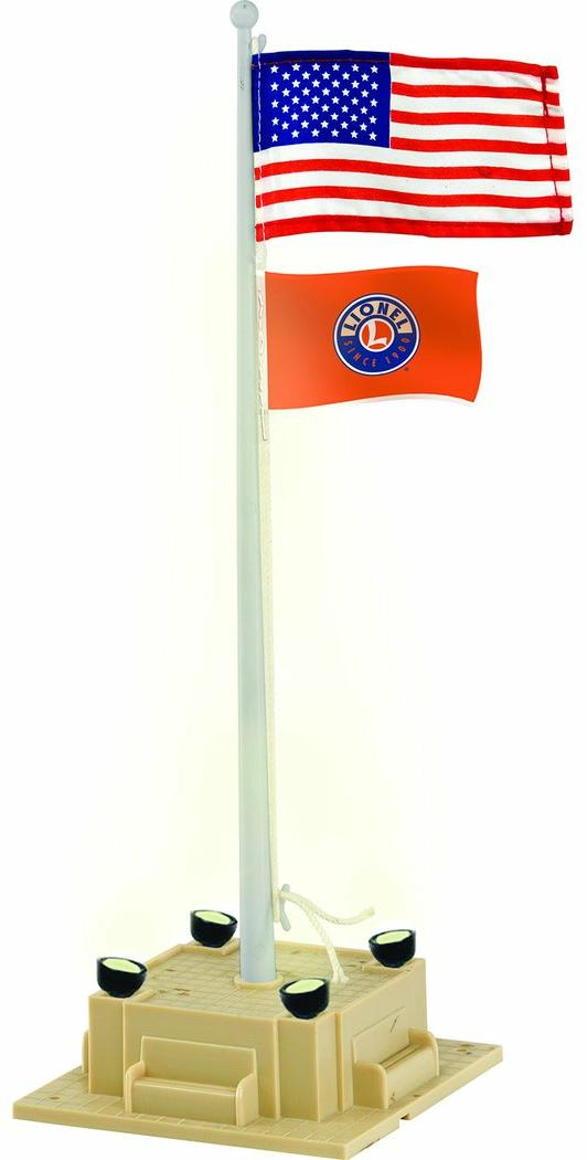 Lionel Illuminated Flagpole With Flag image