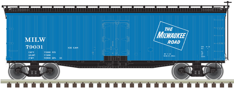 Milwaukee Road Ice Car 40' Wood Reefer image