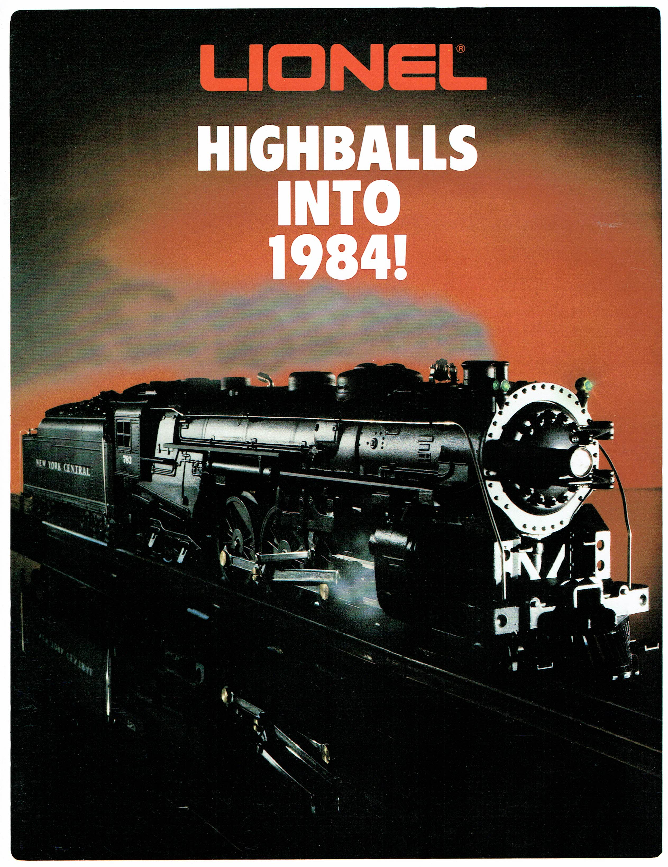 Lionel Highballs Into 1984! Flier image
