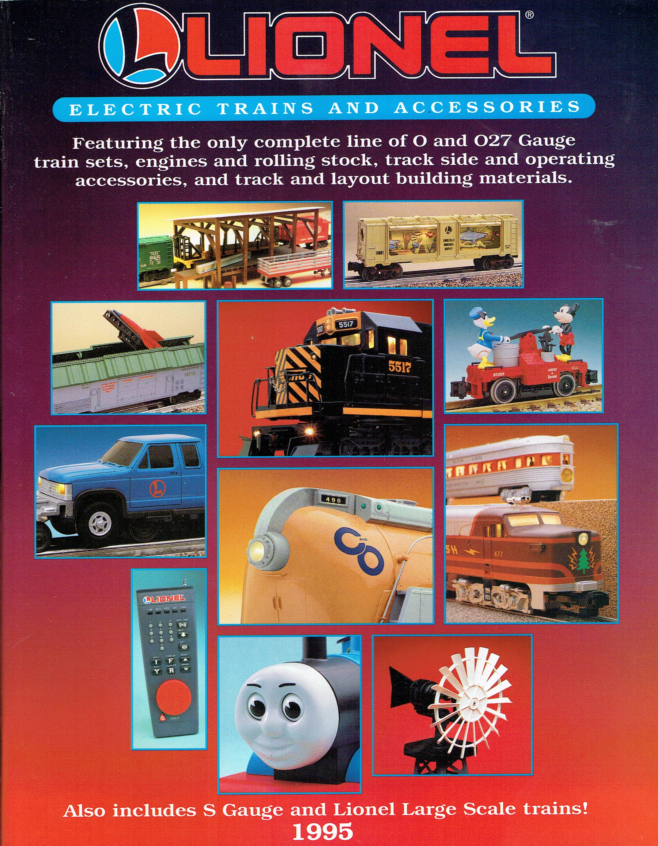 "Lionel 1995 ""Lionel Red Book"" Catalog image"
