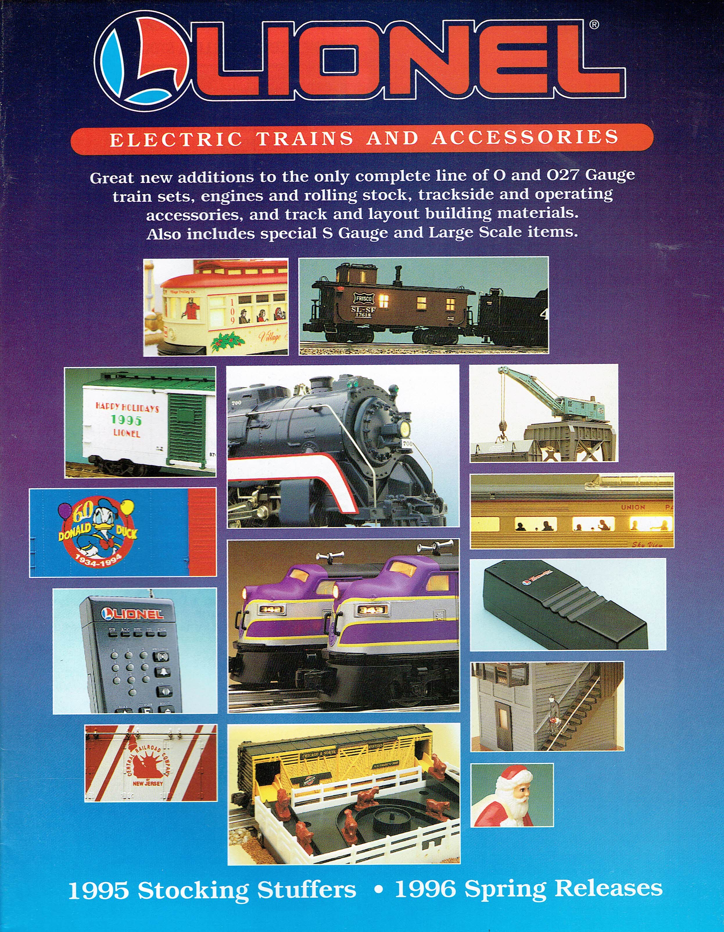 Lionel 1995 Stocking Stuffers / 1996 Spring Releases Catalog image