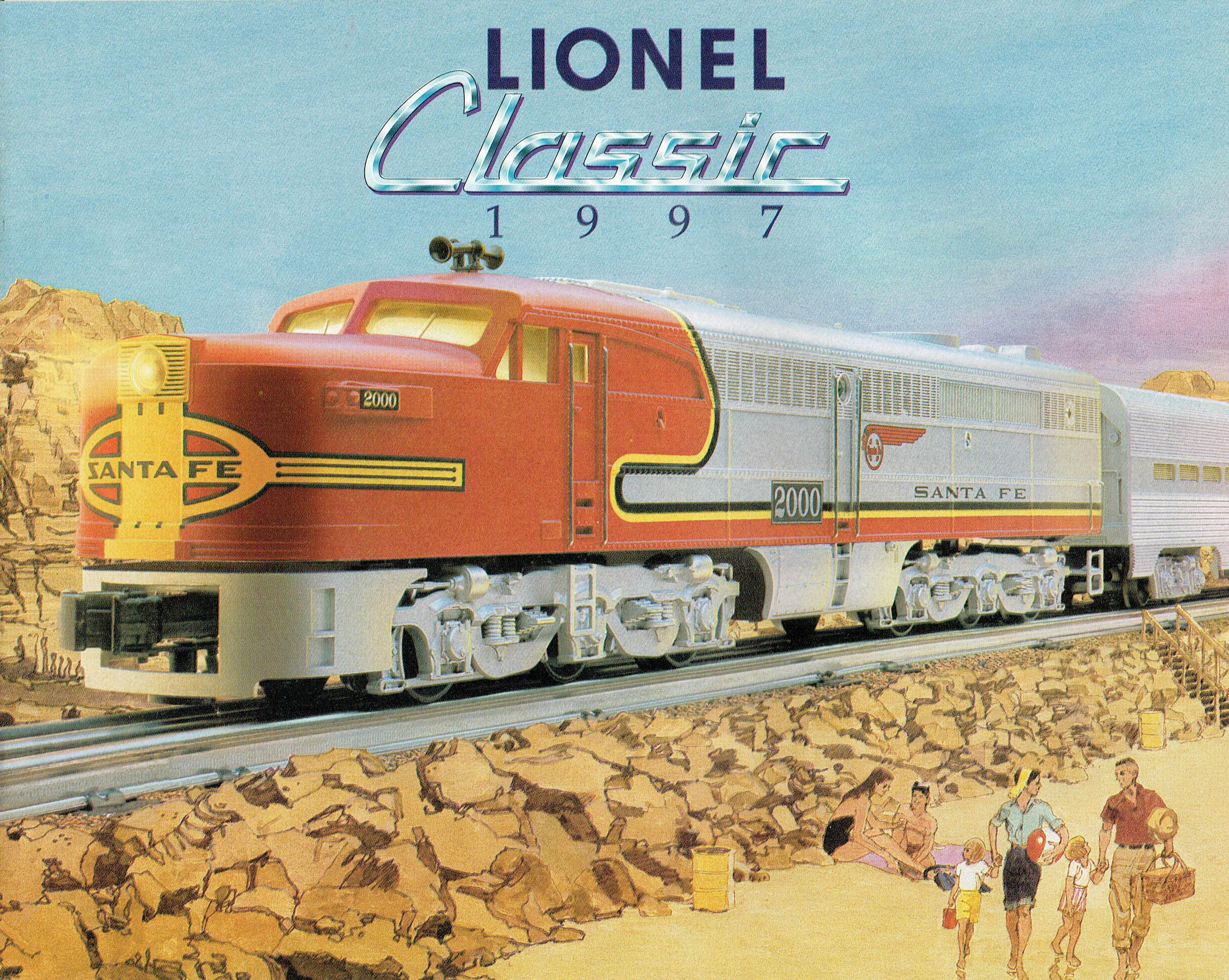 Lionel 1997 Classic (Santa Fe on cover) Catalog image