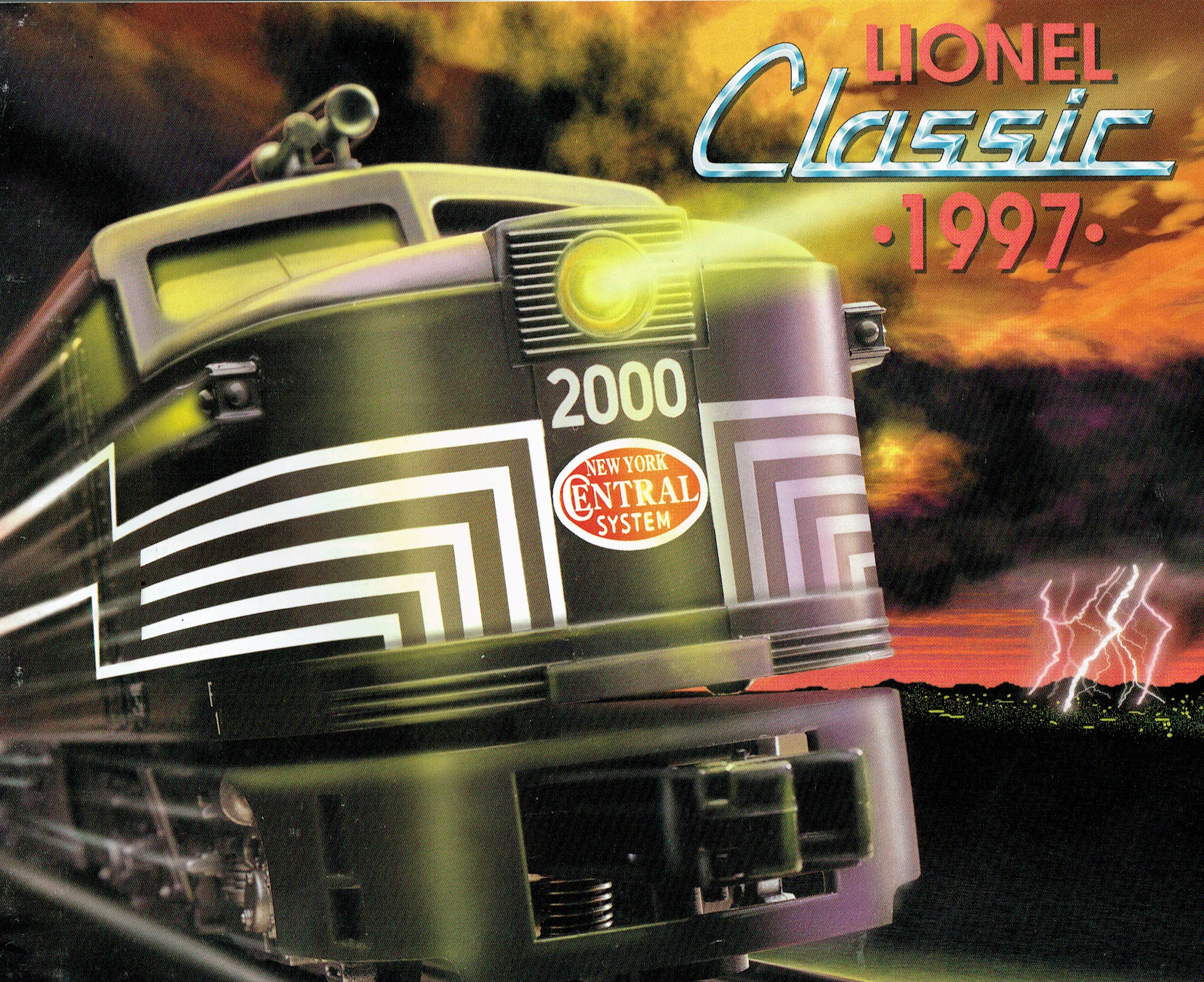 Lionel 1997 Classic (NYC diesel on cover) Catalog image
