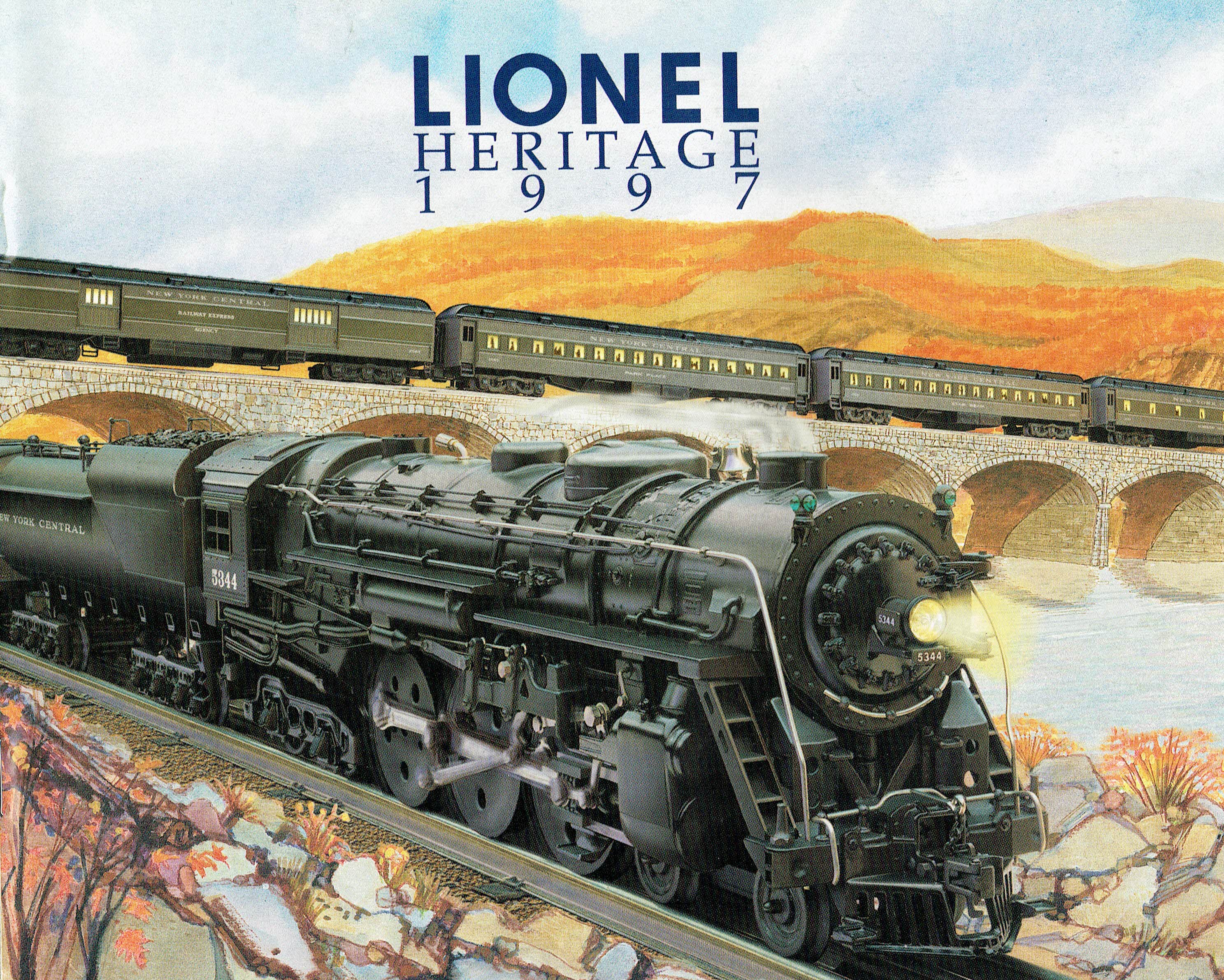 Lionel 1997 Heritage (NYC steam on cover) Catalog image