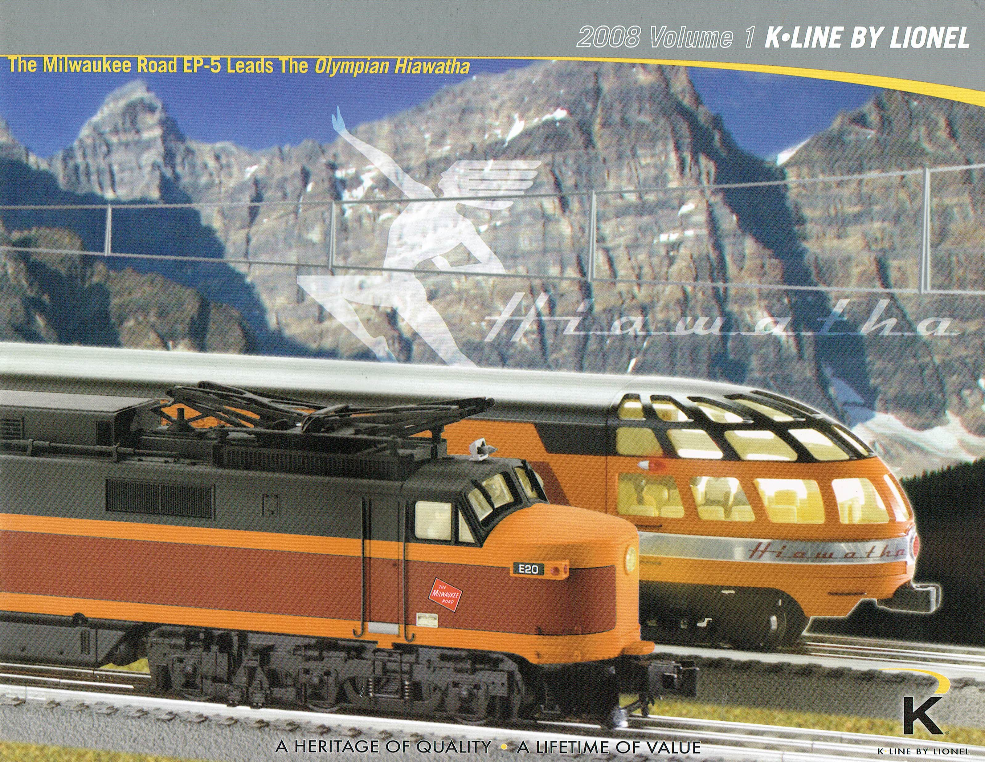 K-Line by Lionel 2008 Volume 1 Catalog image