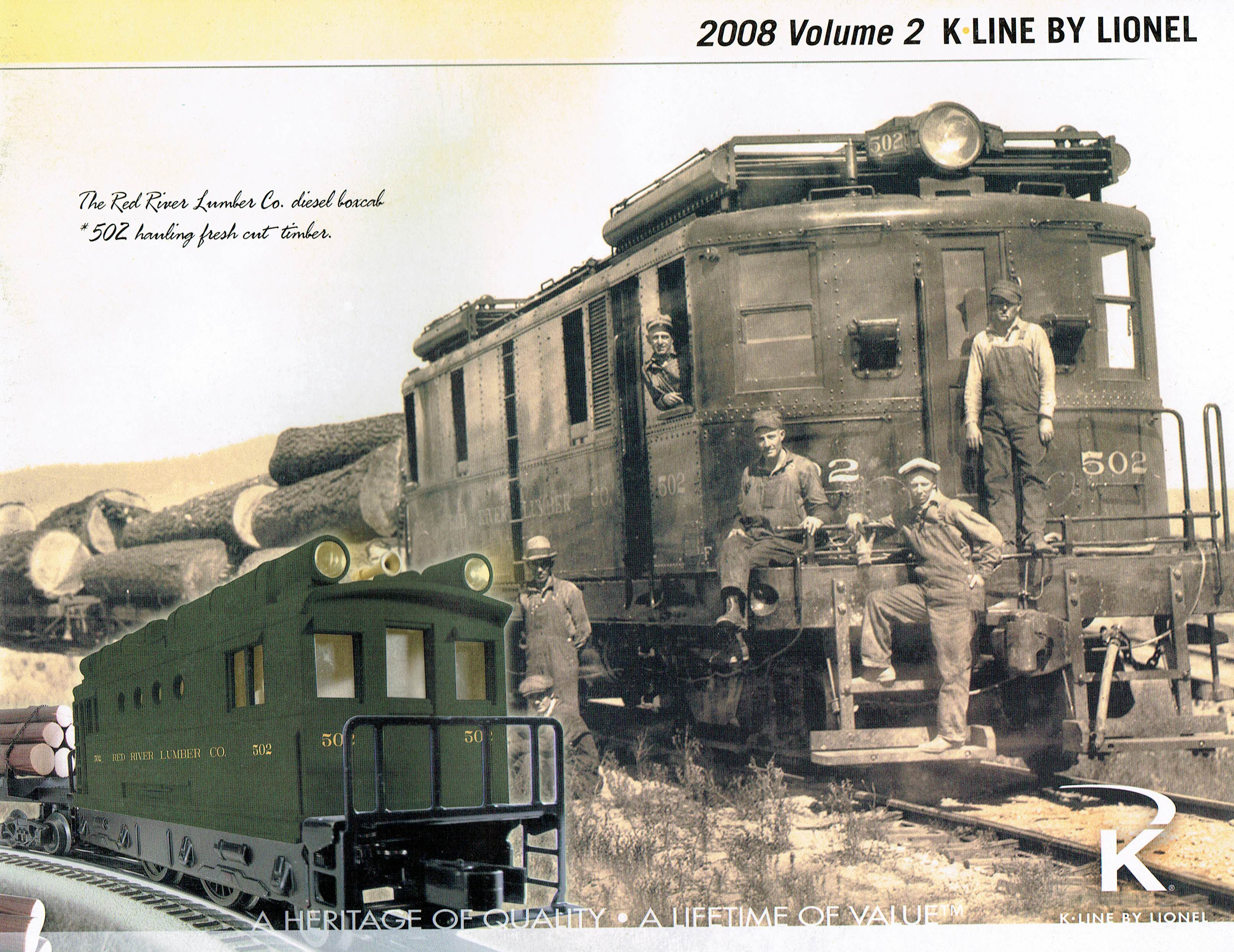 K-Line by Lionel 2008 Volume 2 Catalog image