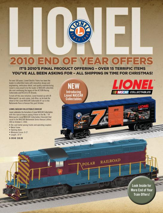 Lionel 2010 End of Year Offers Flier image