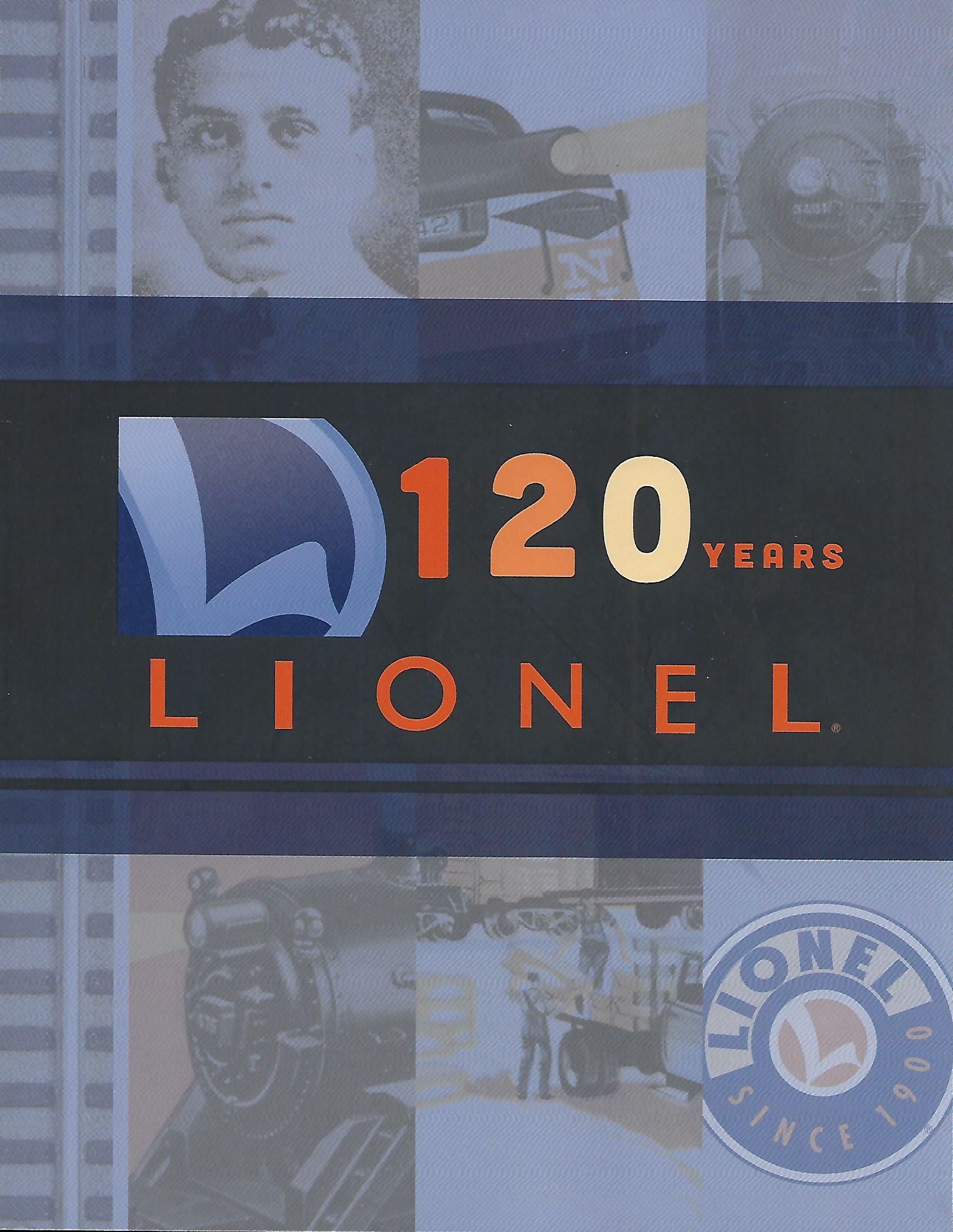 "Lionel 2020 ""120 Years"" Catalog image"