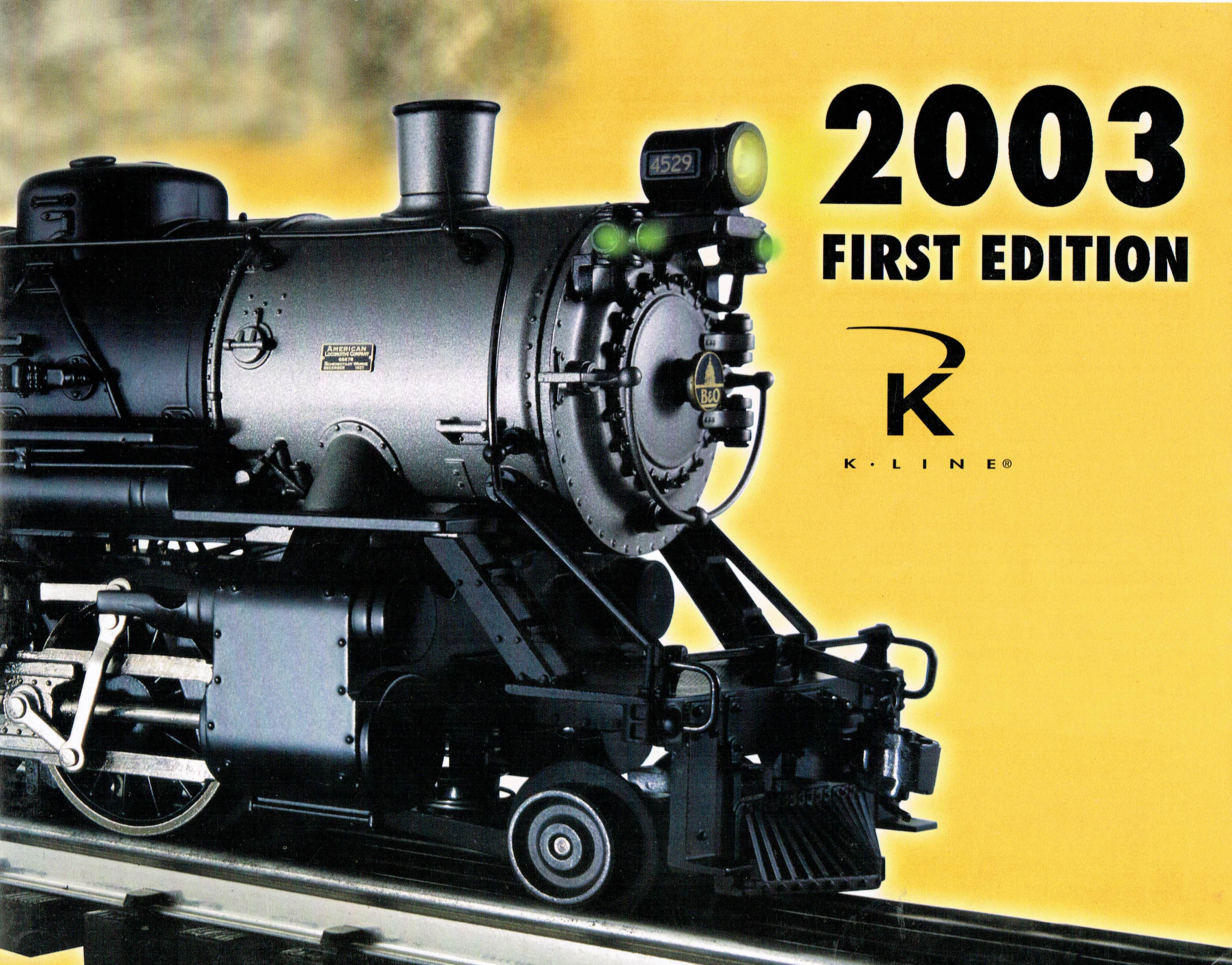 K-Line 2003 First Edition Catalog image