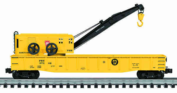 PRR Die Cast Gondola with Crane image
