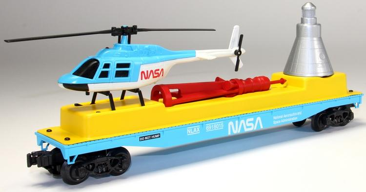 NASA Flat Car w/Capsule & Helicopter image