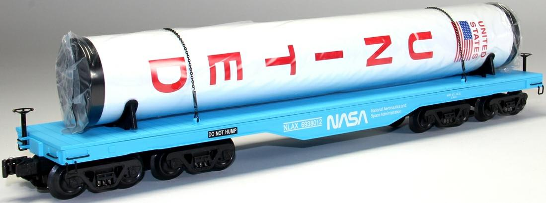 NASA Die Cast Flat Car w/Rocket Booster image