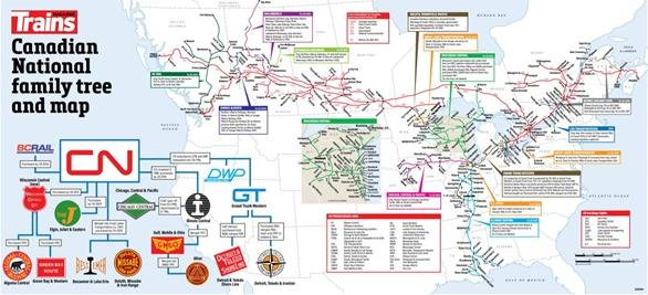 Railroad Map and Family Tree Poster – Canadian National image