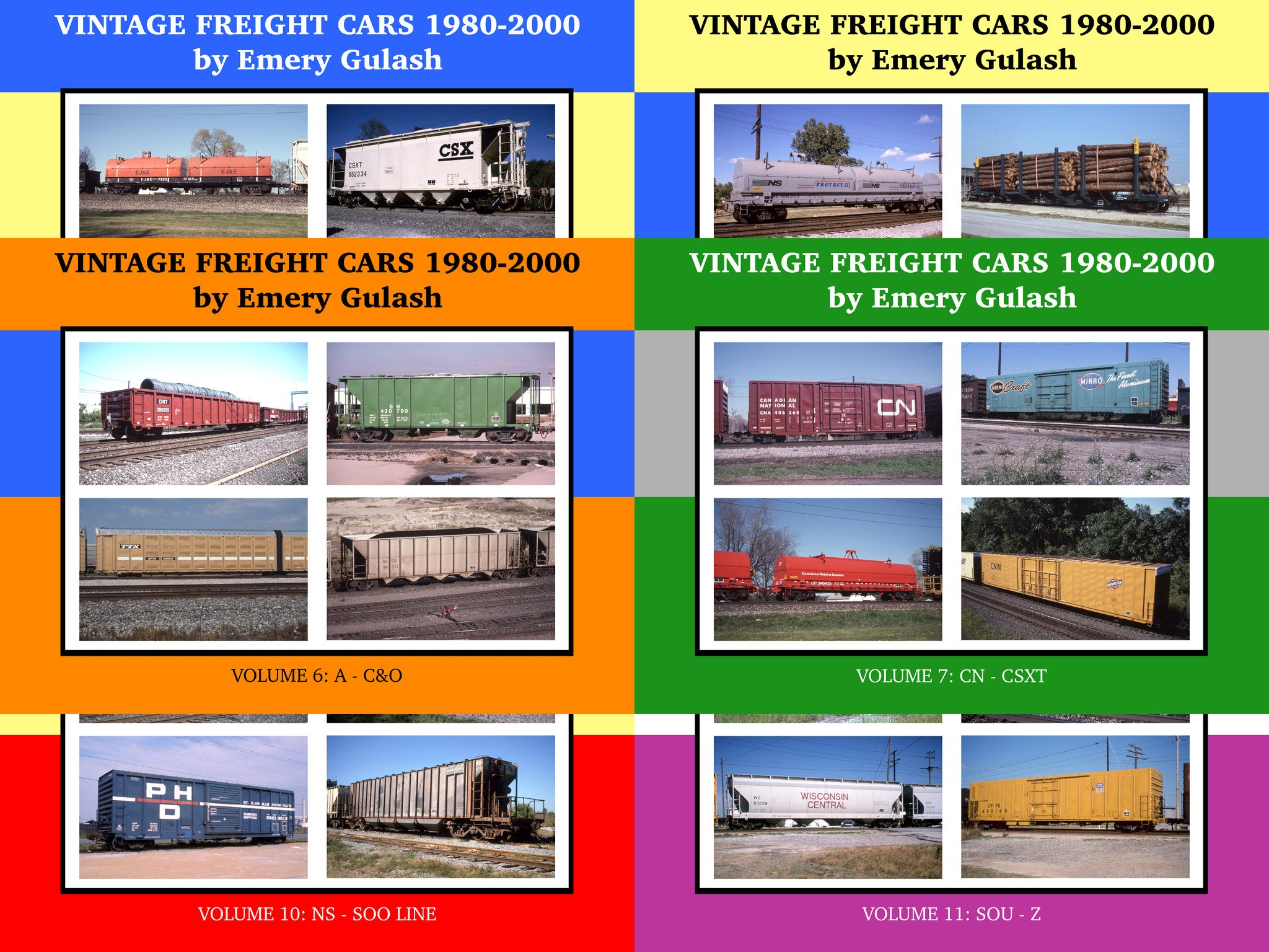 Vintage Freight Cars 1980-2000 Volumes 6-11 Bundle (eBooks) image
