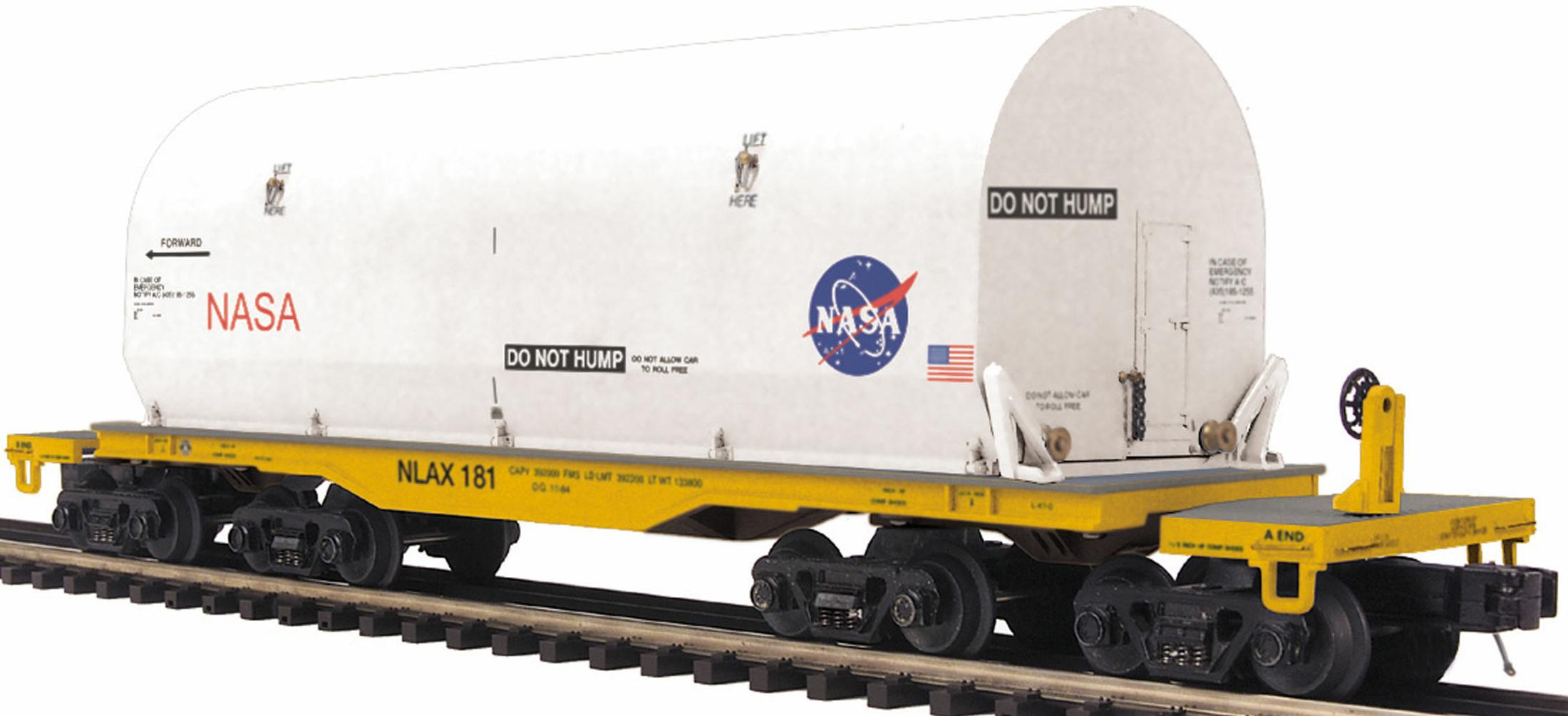 NASA 47' TTX Heavy Duty Flat Car w/Cover image
