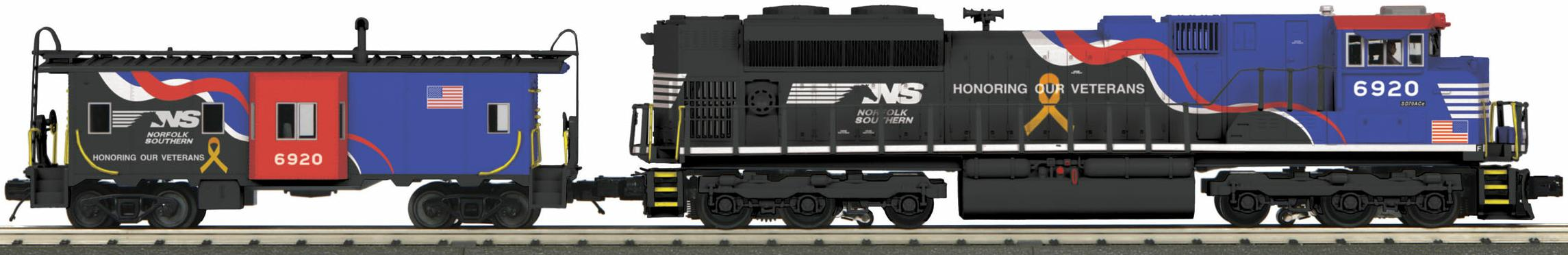Norfolk Southern SD70ACe Imperial Diesel & Caboose Set (Veterans) image