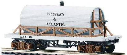 Western & Atlantic Wooden Tank Car - 19th Century image