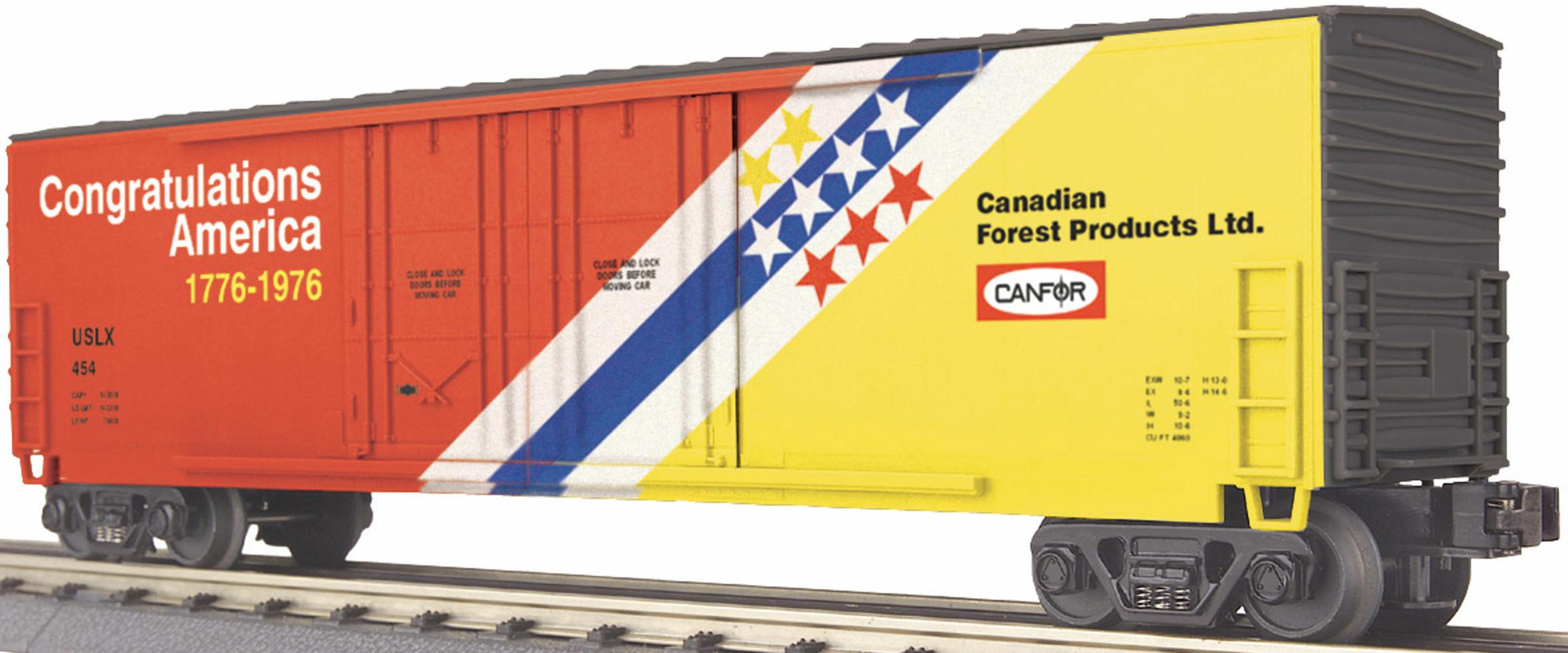 CANFOR Congratulations America 50-Foot Double-Door Plugged Box Car image