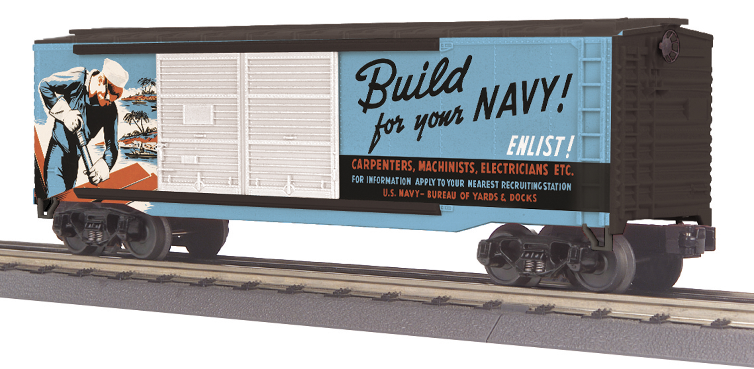 U.S. Navy (Recruitment Poster) 40' Double Door Box Car image