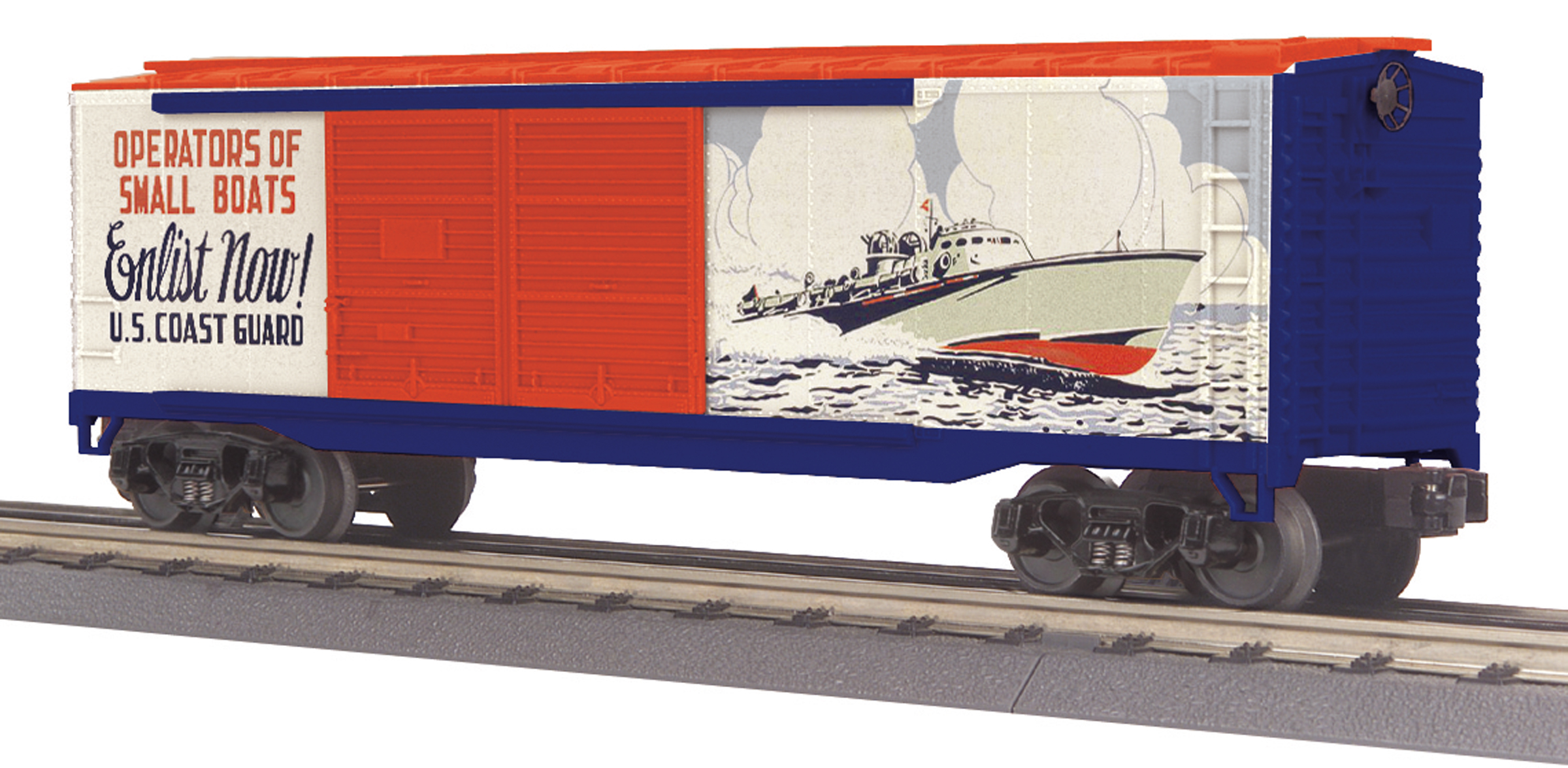 U.S. Coast Guard (Recruitment Poster) 40' Double Door Box Car image