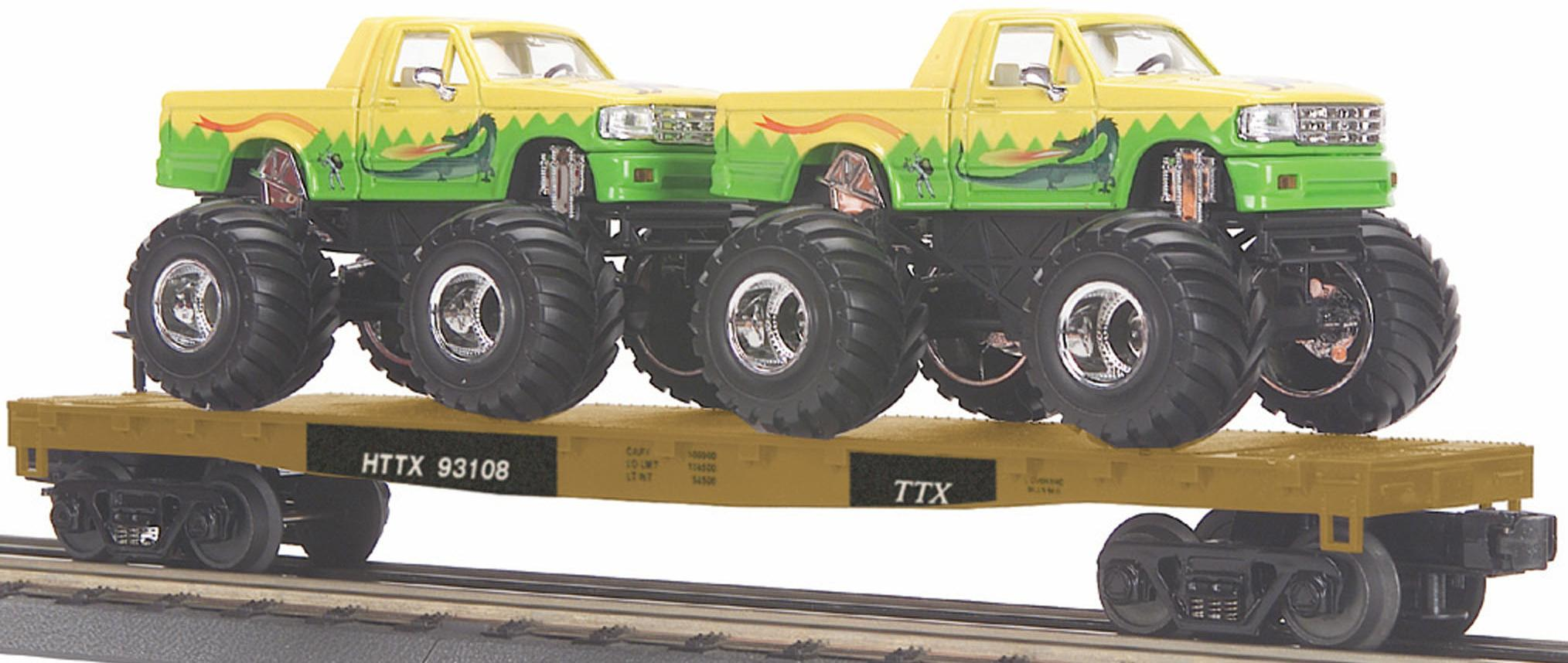 HTTX Flat Car w/(2) Monster Trucks image