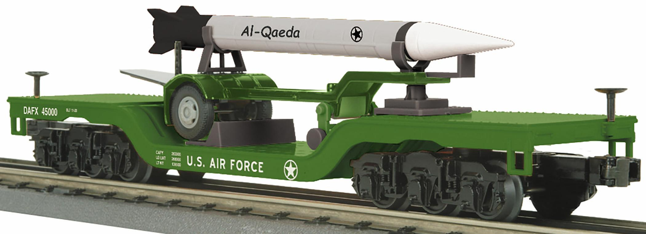 Dep. Center Flat Car w/Rocket Load - U.S. Air Force (Al-Qaeda) image