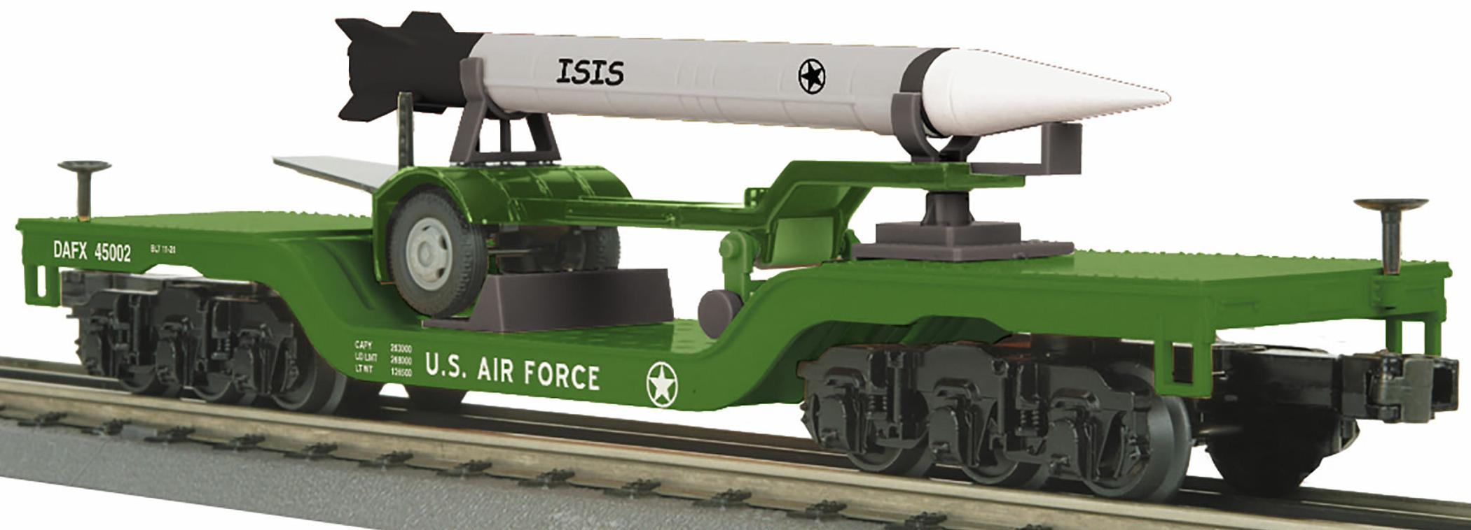 Dep. Center Flat Car w/Rocket Load - U.S. Air Force (ISIS) image