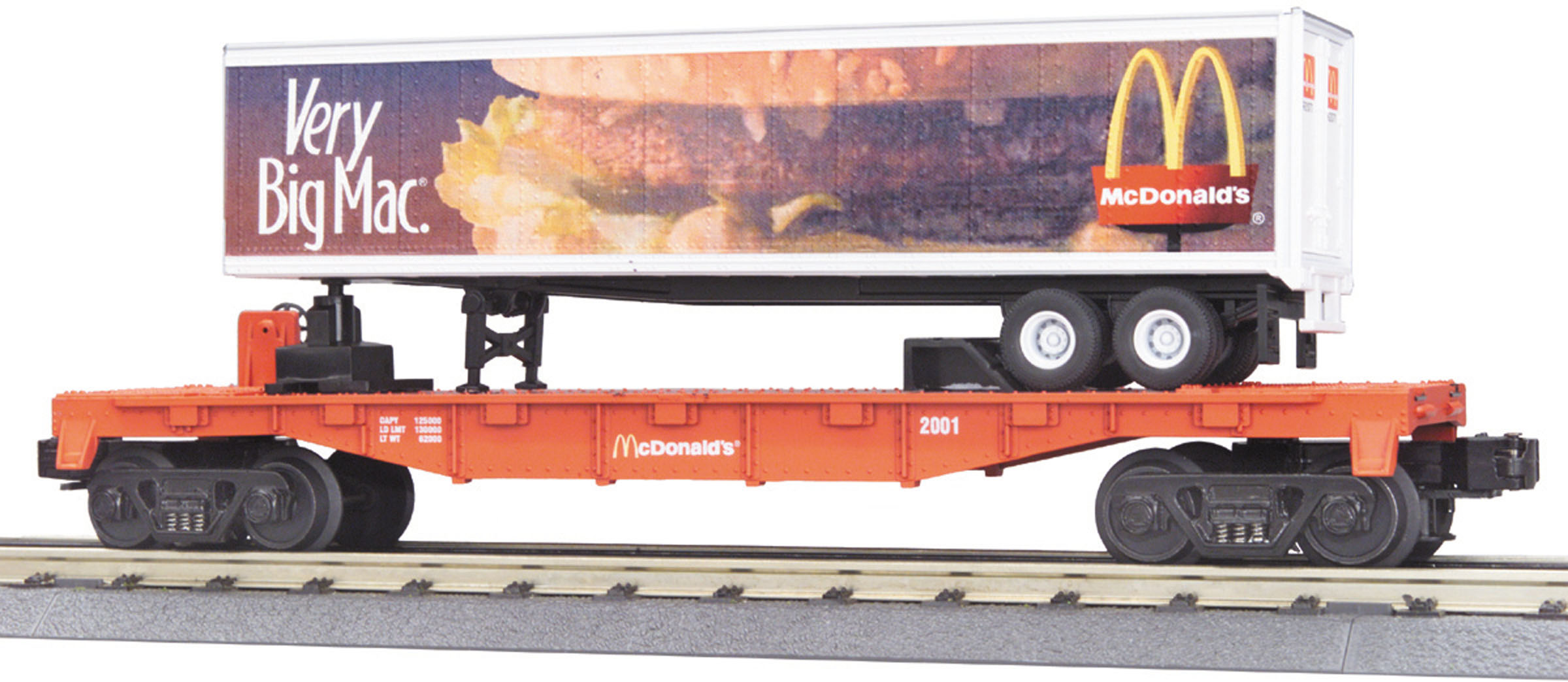 McDonalds Flat Car w/40' Trailer image