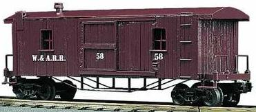 Western & Atlantic 19th Century Illuminated Woodsided Caboose image